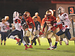 Lafayette High's Brandon Mack (4) runs vs. Lewisburg in Homecoming football action in Oxford, Miss. on Friday, September 30, 2011. Lafayette High won 42-0 for the team's 23rd straight win.