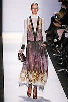 Sigrid Agren walks the runway in an out by Max Azria, for the BCBGMAXAZRIA Fall 2011 fashion show, during Mercedes Benz Fashion Week.