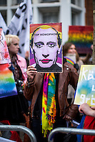 "01.02.2014 - ""Sports Gay (LGBT Rights in Russia)"" - Demo Outside the Russian Embassy"