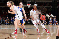 STANFORD, CA - March 21, 2016: Stanford Cardinal defeats the South Dakota State Jackrabbits 66-65 in a second round NCAA tournament game at Maples Pavilion.
