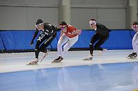 SCHAATSEN: SALT LAKE CITY: Utah Olympic Oval, 12-11-2013, Essent ISU World Cup, training, Team Russia, Ivan Skobrev, Denis Yuskov, ©foto Martin de Jong