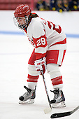 Freshman Louise Warren (BU - 28) scored the game-winning goal. - The Boston University Terriers defeated the visiting University of Windsor Lancers 4-1 in a Saturday afternoon, September 25, 2010, exhibition game at Walter Brown Arena in Boston, MA.