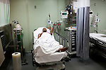 A dummy lies in a hospital bed on board the USNS Comfort, a navy hospital ship, before its mission to help survivors of the earthquake in Haition Friday, January 15, 2010 in Baltimore, MD.