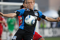 Brad Ring eyes the ball. Toronto FC defeated the San Jose Earthquakes 3-1 at Buck Shaw Stadium in Santa Clara, California on May 29th, 2010.