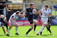 Rhys Priestland of Bath Rugby goes on the attack. European Rugby Challenge Cup Quarter Final, between Bath Rugby and CA Brive on April 1, 2017 at the Recreation Ground in Bath, England. Photo by: Patrick Khachfe / Onside Images