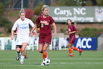 09 November 2008: Virginia Tech's Brittany Michaels (2) and North Carolina's Ali Hawkins (76). The University of North Carolina Tarheels defeated the Virginia Tech University Hokies 3-0 at WakeMed Stadium at WakeMed Soccer Park in Cary, NC in the women's ACC tournament championship game.