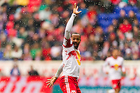 Thierry Henry (14) of the New York Red Bulls looks for a call. The New York Red Bulls and D. C. United played to a 0-0 tie during a Major League Soccer (MLS) match at Red Bull Arena in Harrison, NJ, on March 16, 2013.