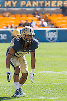 Pitt defensive back Ryan Lewis. The Akron Zips Defeated the Pitt Panthers 21-10 at Heinz Field, Pittsburgh. Pennsylvania on September 27, 2014.