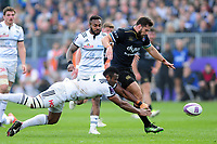 Nathan Charles of Bath Rugby puts boot to ball. European Rugby Challenge Cup Quarter Final, between Bath Rugby and CA Brive on April 1, 2017 at the Recreation Ground in Bath, England. Photo by: Patrick Khachfe / Onside Images