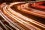 Freeway with Car Light Streaks