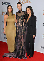 Kim Kardashian West &amp; Kourtney Kardashian &amp; Angela Sarafyan at the premiere for &quot;The Promise&quot; at the TCL Chinese Theatre, Hollywood. Los Angeles, USA 12 April  2017<br /> Picture: Paul Smith/Featureflash/SilverHub 0208 004 5359 sales@silverhubmedia.com