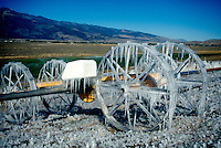 ICE AND SNOW<br /> Icicles On Irrigation Equipment In Alfalfa Field<br /> Washoe Valley, NV