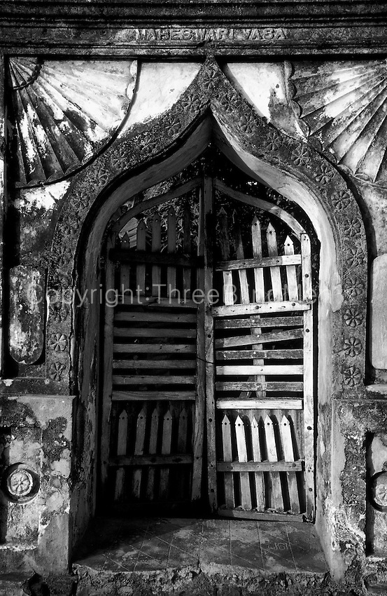 Sri Lanka.  Entrance to a home. Trincomalee.