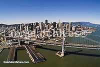 aerial photograph Bay Bridge to San Francisco
