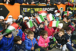 Young fans greet the riders at sign on before the start of stage 2 of the 2017 Tirreno Adriatico running 229km from Camaiore to Pomarance, Italy. 9th March 2017.<br /> Picture: La Presse/Fabio Ferrari | Cyclefile<br /> <br /> <br /> All photos usage must carry mandatory copyright credit (&copy; Cyclefile | La Presse)