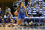 27 October 2013: Kendall McCravey-Cooper. The Duke University Blue Devils played their annual preseason Blue White women's college basketball game at Cameron Indoor Stadium in Durham, North Carolina.