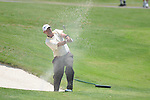 Dicky Pride blasts out of a bunker on the 18th hole at the PGA FedEx St. Jude Classic at TPC Southwind in Memphis, Tenn. on Thursday, June 9, 2011.