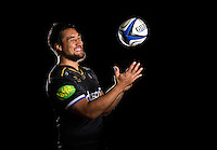 Leroy Houston poses for a portrait in the 2015/16 European kit during a Bath Rugby photocall on September 8, 2015 at Farleigh House in Bath, England. Photo by: Patrick Khachfe / Onside Images