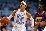 30 December 2014: North Carolina's Jessica Washington. The University of North Carolina Tar Heels hosted the University at Albany Great Danes at Carmichael Arena in Chapel Hill, North Carolina in a 2014-15 NCAA Division I Women's Basketball game. UNC won the game 71-56.