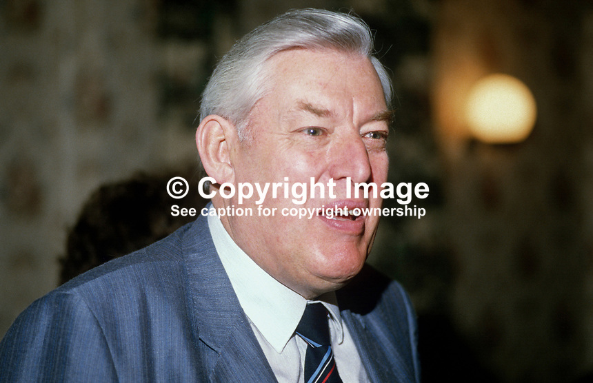 Rev Ian Paisley, MP, MEP, assemblyman, leader, Democratic Unionist Party, N Ireland, UK, 19840062IP2..Copyright Image from Victor Patterson, 54 Dorchester Park, Belfast, UK, BT9 6RJ..Tel: +44 28 9066 1296.Mob: +44 7802 353836.Voicemail +44 20 8816 7153.Skype: victorpattersonbelfast.Email: victorpatterson@me.com.Email: victorpatterson@ireland.com (back-up)..IMPORTANT: If you wish to use this image or any other of my images please go to www.victorpatterson.com and click on the Terms & Conditions. Then contact me by email or phone with the reference number(s) of the image(s) concerned.
