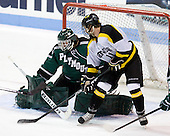 Tyler Ingerson (PSU - 29), Kevin Crowe (WIT - 11) - The visiting Plymouth State University Panthers defeated the Wentworth Institute of Technology Leopards 2-1 on Monday, November 19, 2012, at Matthews Arena in Boston, Massachusetts.
