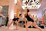 Pascal Rioult's modern dancers, draped in vibrant fabric, danced engaging choreography in the isles, at the opening of Marimekko's flagship store in Manhattan...