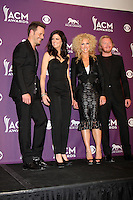LAS VEGAS - APR 1:  Little Big Town in the press room  at the 2012 Academy of Country Music Awards at MGM Grand Garden Arena on April 1, 2010 in Las Vegas, NV.