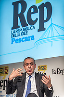Pescara, Giovanni Legnini during the conference of RepIdee, on October 17, 2015. Photo: Adamo Di Loreto/BuenaVista*photo