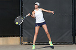 24 March 2016: Notre Dame's Julie Vrabel. The North Carolina State University Wolfpack hosted the University of Notre Dame Fighting Irish at the J.W. Isenhour Tennis Center in Raleigh, North Carolina in a 2015-16 NCAA Division I Women's Tennis match. NC State won the match 4-3.