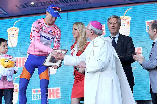 13.05.2011. Giro d Italia, Stage 7.  Maddaloni - Montevergine Di Mercogliano, Rabobank 2011, Weening Pieter, Montevergine Di Mercogliano