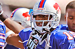 11 September 2005: Jonathan Smith, Wide Receiver for the Buffalo Bills, prior to a game against the Houston Texans on September 11, 2005.  The Bills, wearing their 60s throwback uniforms, defeated the Texans 22-7, winning their first game of the season at Ralph Wilson Stadium in Orchard Park, NY.<br />