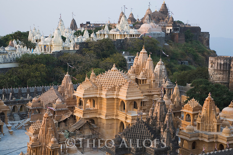 Jain temple; Palitana has the largest concentration of Jain temples anywhere in the world. From the base to the peak of the Shatrunjaya Hill, where the Palitana  temples are located, there are, in all, 863 temples. These were built in two phases during the 11 and 12th centuries as part of the resurgence of temple building all over India