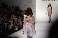 A model displays a creation by Mexican designer Pink Magnolia during the Mercedes Benz Fashion Week Mexico Spring/Summer 2015, in Mexico City, 09.30.2014. VIEWpress / Miguel Angel Pantaleon