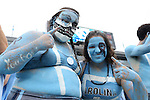 12 September 2015: UNC fans. The University of North Carolina Tar Heels hosted the North Carolina A&T State University Aggies at Kenan Memorial Stadium in Chapel Hill, North Carolina in a 2015 NCAA Division I College Football game.