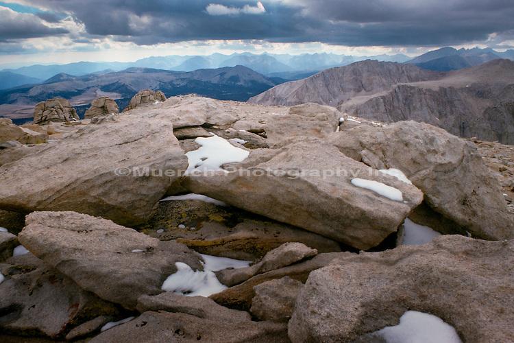 Mt. Whitney,toprock,Sierra Nevada Mountain Range,Sequoia National Park,California