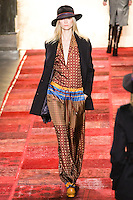 Kasia Struss walks runway in an outfit from the Tommy Hilfiger Fall 2011 Bohemian Prep collection, during Mercedes-Benz Fashion Week Fall 2011.