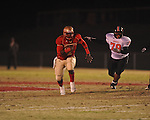 Lafayette High's Jeremy Liggins (1) runs 43 yards for a touchdown vs. Leake Central in playoff high school football action in Oxford, Miss. on Friday, November 4, 2011. Lafayette won 46-7.