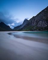 Horseid beach, Moskenesoy, Lofoten Islands, Norway