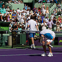 Mardy FISH (USA) against Andy MURRAY (GBR) in the third round of the mens singles. Fish beat Murray 6-4 6-4..International Tennis - 2010 ATP World Tour - Sony Ericsson Open - Crandon Park Tennis Center - Key Biscayne - Miami - Florida - USA - Sat 27 Mar 2010..© Frey - Amn Images, Level 1, Barry House, 20-22 Worple Road, London, SW19 4DH, UK .Tel - +44 20 8947 0100.Fax -+44 20 8947 0117