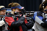 COLUMBUS, OH - MARCH 11:  Samantha Peterson, of the University of Nebraska, competes during the Division I Rifle Championships held at The French Field House on the Ohio State University campus on March 11, 2017 in Columbus, Ohio. (Photo by Jay LaPrete/NCAA Photos via Getty Images)