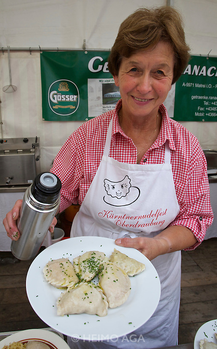 Kärntnernudelfest (Carinthian Dumplings Festival) in Oberdrauburg 2011.