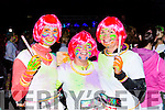 Laura Jane  Mealon Lixnaw, Bogna Kune Szewicz Causeway and Tracey moriarty Ballyduff  at the Killarney Glow Neon run on Saturday night