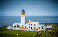 BNPS.co.uk (01202 558833)<br /> Pic: PaulCompton/BNPS<br /> <br /> A stunning lighthouse property with spectacular views out to sea on the 'edge of the earth' is the perfect place to get away from it all - on the market for &pound;450,000.<br /> <br /> Rua Reidh Lighthouse, in the north west Highlands of Scotland, was built by David Alan Stevenson, a cousin of the author Robert Louis Stevenson, and the stone-built house next to it has a truly spectacular secluded position overlooking the Isles of Skye, Harris and Lewis.<br /> <br /> The Category B listed property is down a three-mile private access track and the only signs of human habitation nearby are a few houses visible on the Isle of Skye.