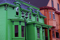 Old Town Lunenburg, a UNESCO World Heritage Site, NS, Nova Scotia, Canada - Colourful 18th Century Wood Houses