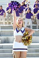 AUG 16, 2014:  University of Washington cheerleader Hannah Alonzo during Football Picture Day at Husky Stadium in Seattle, Washington