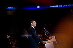 2008 Democratic Presidential Candidate Senator Barack Obama at a campaign rally at the Meadowlands Arena in NJ. 2/4/08.