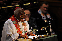 Archbishop Desmond Tutu delivers the keynote speech at the Metropolitan African Methodist Episcopal Church on Martin Luther King Day, on the eve of the inauguration of Barack Obama as the 44th President of the United States..The church is at the forefront of civic and cultural life of African Americans and is the closest black church to the White House.