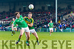 Jonathan Lyne Kerry in action against Paul Hannan Limerick in the Final of the McGrath Cup at the Gaelic Grounds on Sunday.