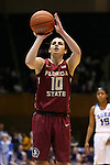 11 February 2016: Florida State's Leticia Romero (ESP). The Duke University Blue Devils hosted the Florida State University Seminoles at Cameron Indoor Stadium in Durham, North Carolina in a 2015-16 NCAA Division I Women's Basketball game. Florida State won the game 69-53.