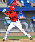 10 March 2012: Washington Nationals' outfielder Michael Taylor in action against the New York Mets at Space Coast Stadium in Viera, Florida. The Nationals defeated the Mets 8-2 in Grapefruit League play. Mandatory Credit: Ed Wolfstein Photo